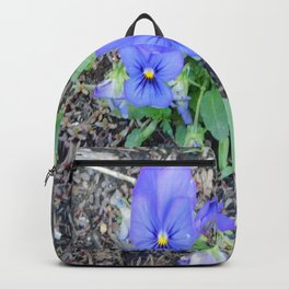 blue Pansy Backpack