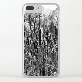 Winter Poetry of the Grasses Clear iPhone Case
