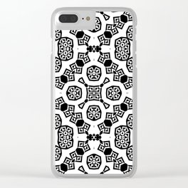 Black and white ornament  13 Clear iPhone Case
