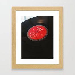 khalid vinyl Framed Art Print