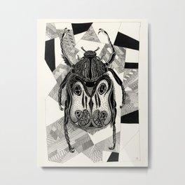Doodle Beetle Metal Print