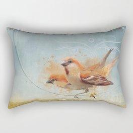 Kathmandu Cinnamon Sparrows Rectangular Pillow