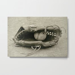 First Love 3 in Sepia Metal Print