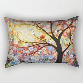 Abstract Art Landscape Original Painting ... Celestial Sunset Rectangular Pillow