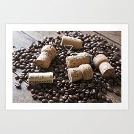 Cork & Coffee Art Print