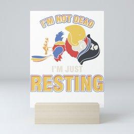 Parrot Owner Birdwatching Birdwatcher Parrot Lover Gift I'm Just Resting Scarlet Macaw  Mini Art Print
