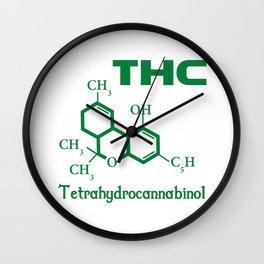 I Love THC Wall Clock