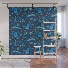 The Spirit of Jazz Pattern Wall Mural