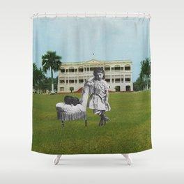 La Jeune fille au chien Shower Curtain