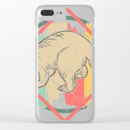 Anteater toothy sloth gift primeval forest Clear iPhone Case