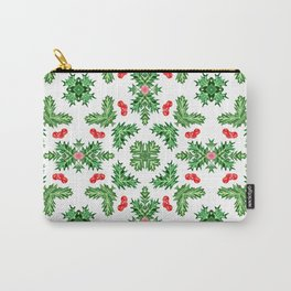 Holly Jolly Christmas Kaleidoscope (Small Pattern) Carry-All Pouch
