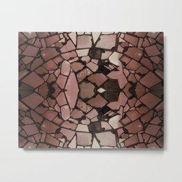 Mosaic - Rose Quartz Metal Print