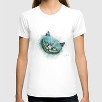 cheshire cat T-shirts featuring Cheshire Cat by digiartpicture