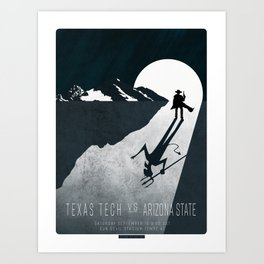 The Devil's Due - TTU vs ASU 9.10.16 Art Print