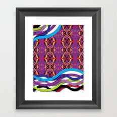Pattern AM02 Colorful Framed Art Print
