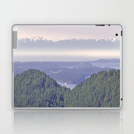 OLYMPIC RANGE AS SEEN FROM ORCAS ISLAND OVER MOUNT ENTRANCE Laptop & iPad Skin