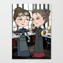 Woman in Science: The Curies Canvas Print