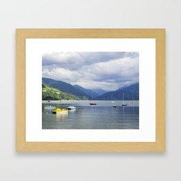 Blue mountain lake Framed Art Print