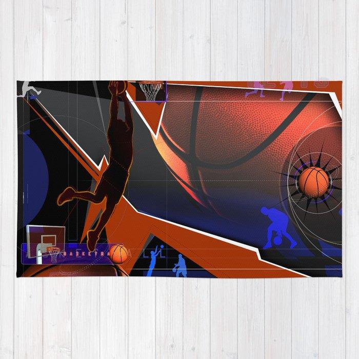Large Basketball Area Rug: Basketball Rug By Robincurtiss