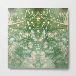 Emerald Ally Cat Metal Print