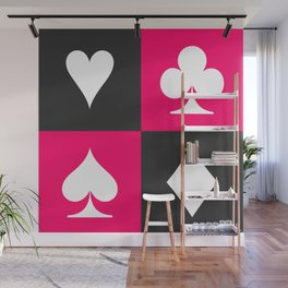 I love gambling. Playing card set. Wall Mural