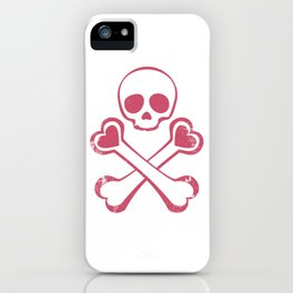 Valentine's day T-shirt Love With Jolly Roger iPhone Case