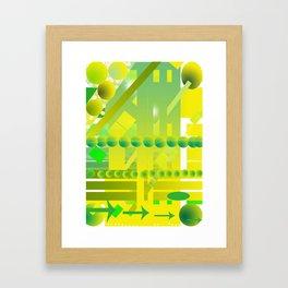 geometric forms Framed Art Print
