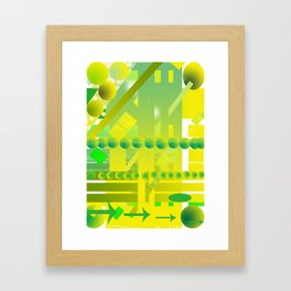 geometric forms Framed Art Print