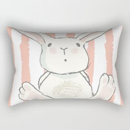Bunny Stripes Rectangular Pillow