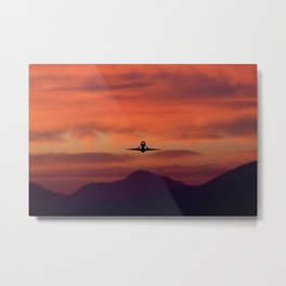 Sunrise Takeoff Metal Print
