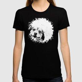 Dog peeking Black & White T-shirt