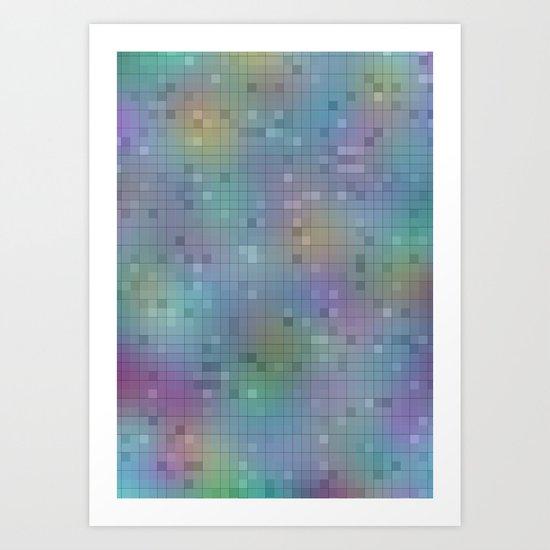 pastel squares Art Print