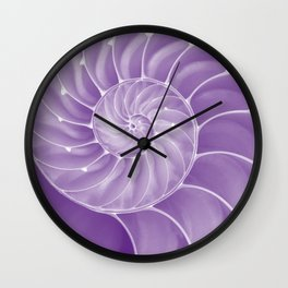 Ultra Violet Chambered Nautilus Wall Clock