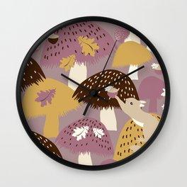 Fall Acorn Hunt Wall Clock