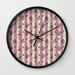 Stripes & Shells - red Wall Clock