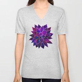 Violet Flower Unisex V-Neck