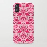 damask iPhone & iPod Cases featuring Flamingo Damask by Jacqueline Maldonado