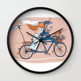 Happy Bridal Couple Wall Clock