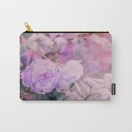 Romantic Rose Soft Pastel Colors Carry-All Pouch