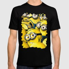 DESPICABLE MINION Black SMALL Mens Fitted Tee