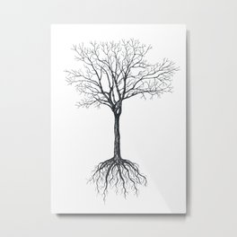 Tree without leaves Metal Print