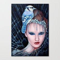 geai bleu Canvas Print