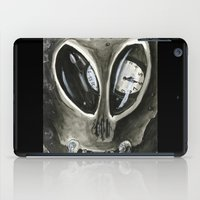 kafka iPad Cases featuring I'm Late by Kyle McDonald