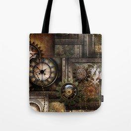 Steampunk, wonderful clockwork with gears Tote Bag