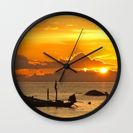 Sunset in Thailand Wall Clock