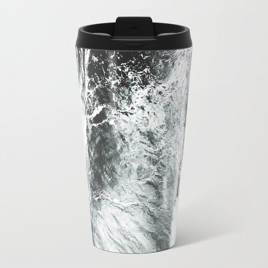 Abstract ocean Metal Travel Mug