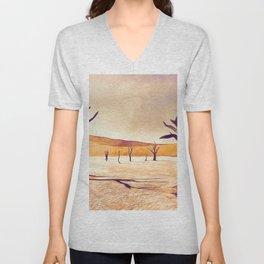 deadvlei desert trees acrls Unisex V-Neck