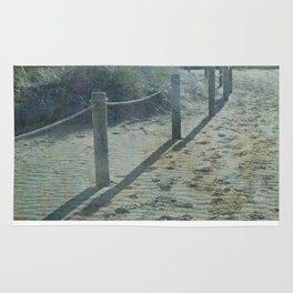 Old worlde beach scene Rug