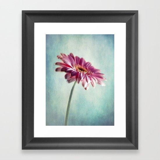 A Shade Of Pink Framed Art Print