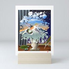 DW-027 Homage To Magritte Mini Art Print